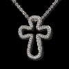 Σταυρός από Λευκόχρυσο και Ζιργκόν με αλυσίδα