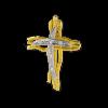 Μοντέρνος Σταυρός από Χρυσό & Λευκόχρυσο