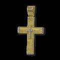 Σταυρός από Κίτρινο Χρυσό & Ζιργκόν