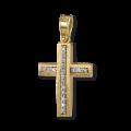 Σταυρός από Χρυσό και Μπριγιάν με δύο όψεις