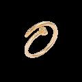 Δακτυλίδι Καρφί Ροζ Χρυσό με Ζιργκόν