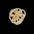 Δακτυλίδι «λουλούδι» από Χρυσό & Ζιργκόν