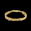 Βραχιόλι Κίτρινο & Λευκό Χρυσό με πέτρες Ζιργκόν